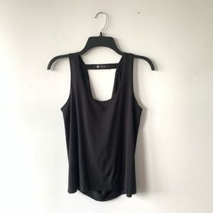 NUX Black Jersey Athletic Tank Top Size Small